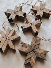 Load image into Gallery viewer, Set Of 5 Barnwood Ornaments