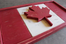 Load image into Gallery viewer, Rustic Canadian Flag
