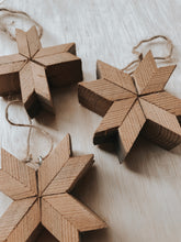 Load image into Gallery viewer, Set Of 3 Barnwood Ornaments