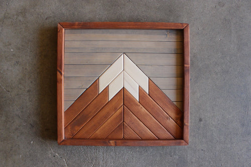 Mini Mountain // Charcoal, American Walnut, Natural
