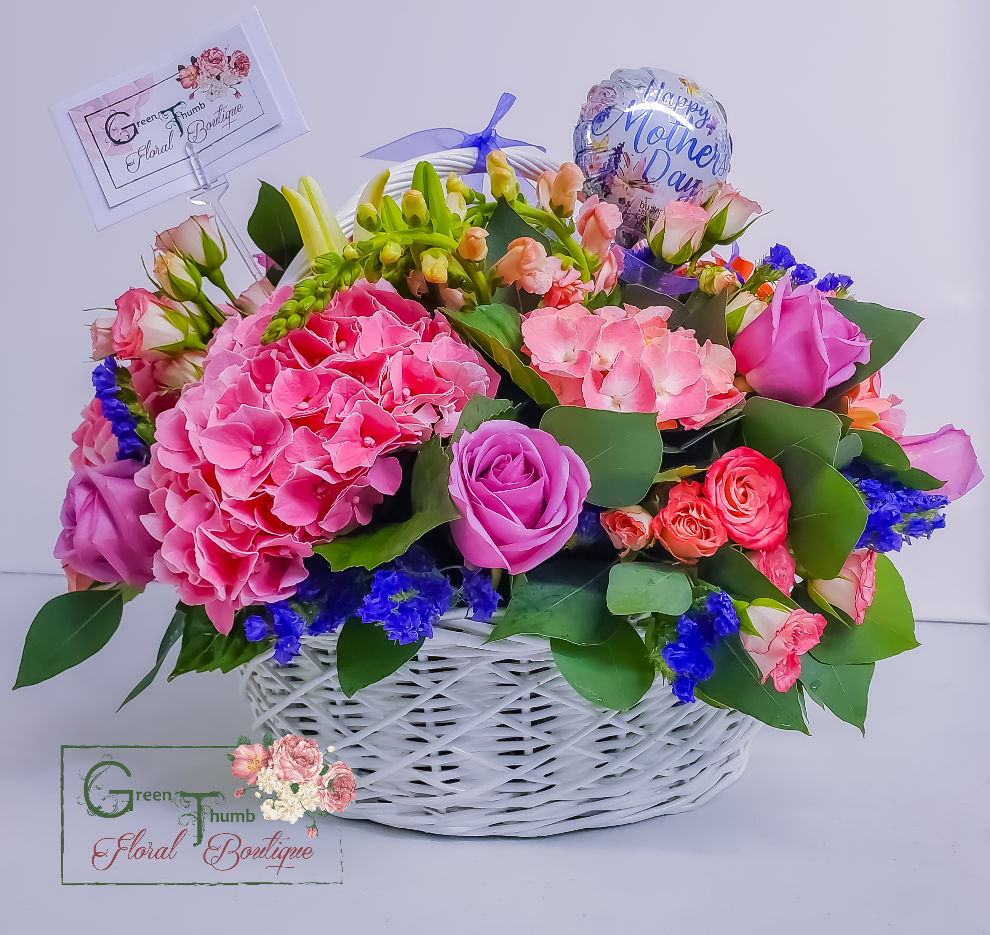 Mix Blend Flower Basket of Blooms