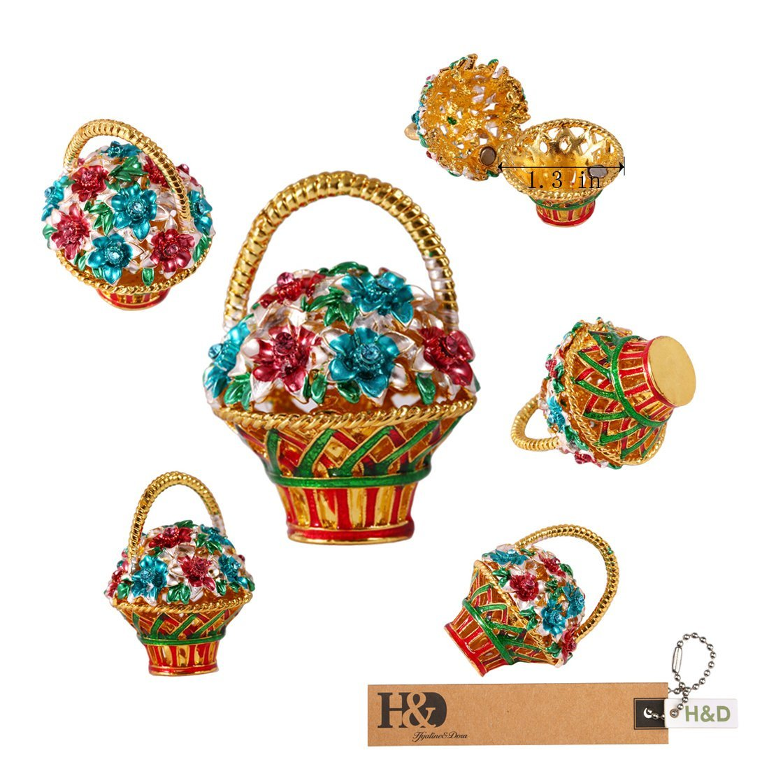JEWELRY BOX TRINKETS (Flower Basket)