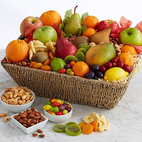 Fresh Fruit & Nut Gift Basket