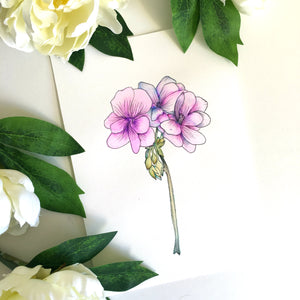 Purple Flower Watercolor How To