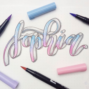 Sophia: Young, German and rocks 3D lettering