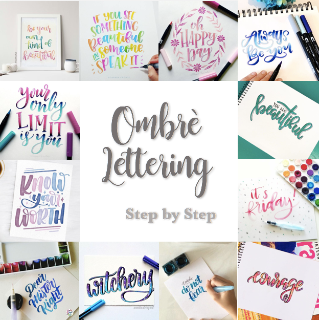Ombre Lettering Step by Step