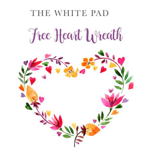 Free Flower Heart Wreath