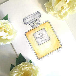 Chanel N5 perfume Watercolor Process