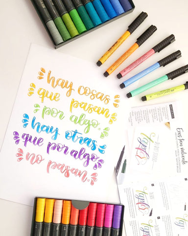 Frases en lettering Full color por The White Pad