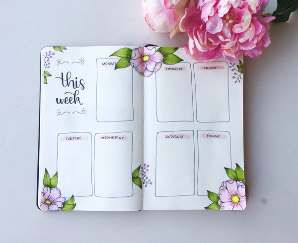Bullet Journal Ideas: This Week