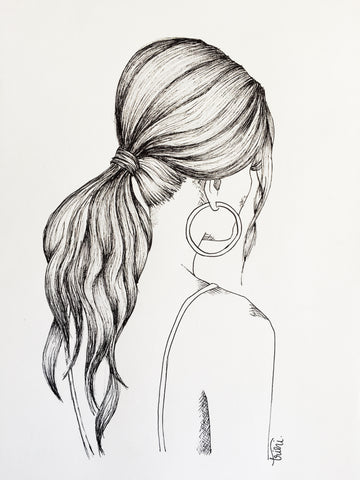 Girl with Earrings ink