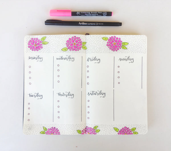 Bullet Journaling: My week
