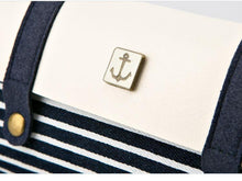 Leather & Canvas Navy Pencil Case