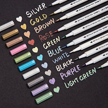 Metallic Brush Markers Set of 10