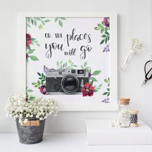 """Oh the Places you will go"" Wall Art"