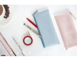 Soft Leather Pencil Case, 8 colors available