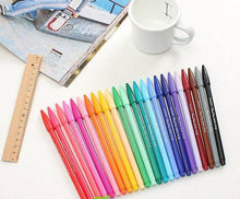 Soft Felt Tip Pastel Markers, set of 24 colors