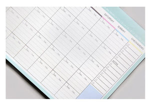 Flower Monthly Planner Pad