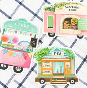 Vintage Foodtruck Postcards, set of 30