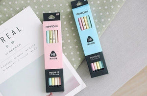 Pastel Rainbow HB and 2B Pencils, set of 12