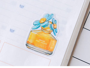 Perfume Watercolor Sticker Set, 25 units