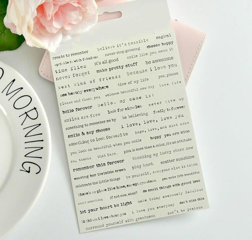 Vintage Typewriter Sticker Set