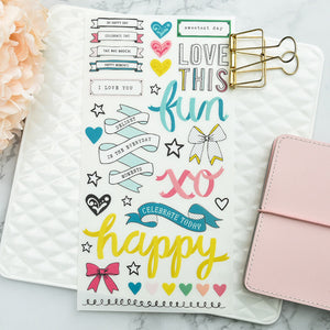 The Handmade Ribbon Sticker Set