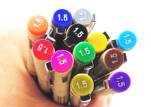 Micron Superior Needle Brush Markers, set of 12