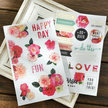 Boho Flower Stickers, set of 3 pages