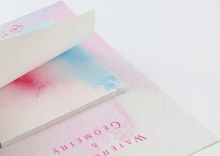 Watercolor Geometrical Sticky Notes