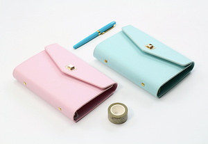 Elegant Leather Planner with Card Holder