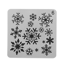Pro Stencil for Bullet Journal, Snowflakes Model