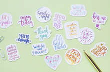 Handlettered Quote Stickers, 45 units