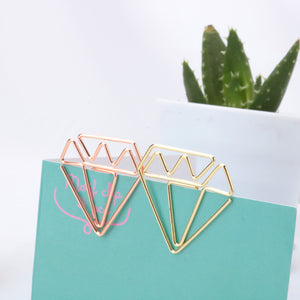 Diamond Gold and Rose Gold paperclips, box of 8