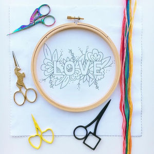 LOVE Embroidery Kit (With Hoop)