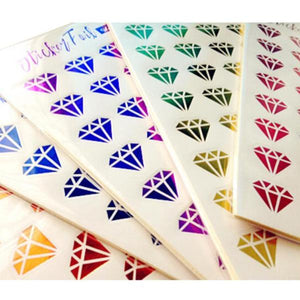 Metallic Foil Diamond / Lip Stickers, set of 480