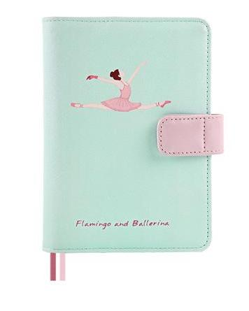 Flamingo and Ballerina A6 Leather Planner