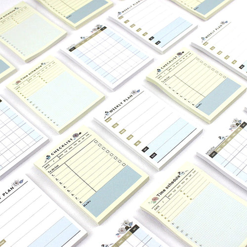 Boho Vintage Planner Sticky Notes, 60 sheets