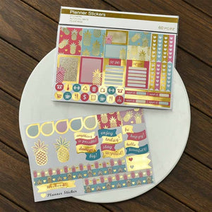 Bujo Metallic and Colour Stickers, set of 60