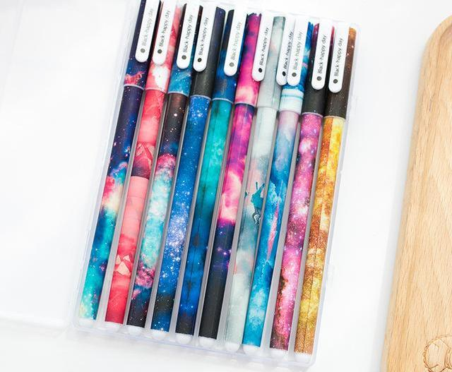 Pastel Flower Ink Pens, set of 10