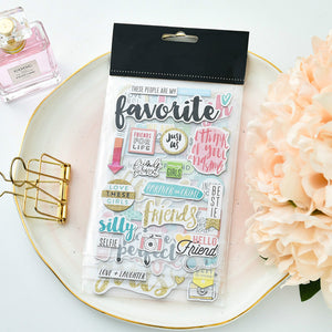 Watercolour and Glitter Gold Stickers, Set of 4 pages
