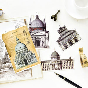 Vintage Architecture Icons Postcard set, 30 units