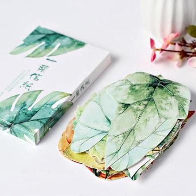 Natural Watercolor Leaves Postcard Set, 30 units