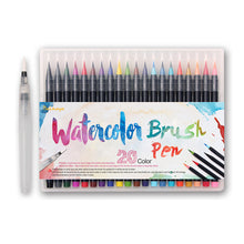 Watercolor Brush Markers, set of 20