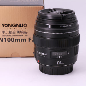 YONGNUO YN100mm F2 AF Large Aperture Auto Focus Lens for Canon EOS
