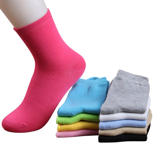 Candy Color Cotton Short Socks, 10 pairs - Beldewls