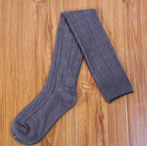 Knit Over Knee Thigh Spiral Pattern High Boot Socks - Beldewls