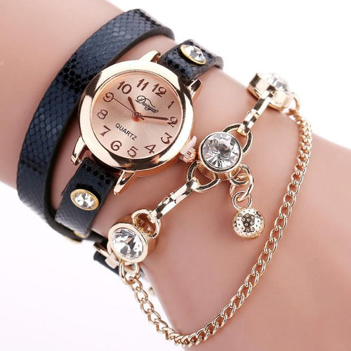 Jeweled pendant, bracelet watch - Beldewls