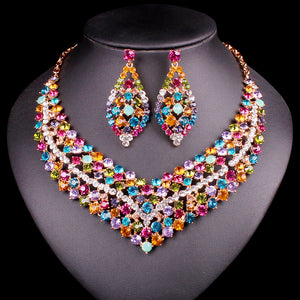 Luxury Rhinestone Indian Jewelry Sets - Beldewls