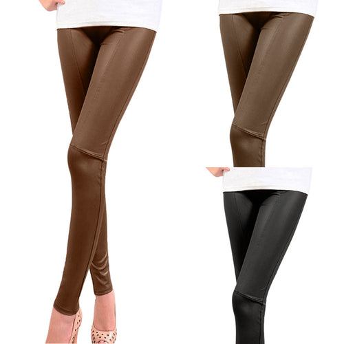 High Waist Patchwork Leggings Pencil Pants, Plus Sizse - Beldewls